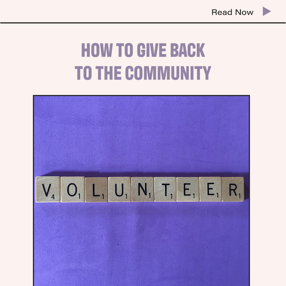 How To Give Back To The Community